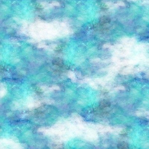 clouds in the sky only turquoise aqua blue FLWRHT