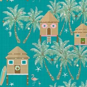 Gingerbread Beach Huts
