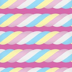 Marshmallow Twist - Horizontal, Pink