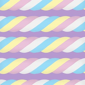 Marshmallow Twist - Horizontal, purple