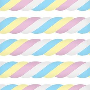 Marshmallow Twist - Horizontal, white