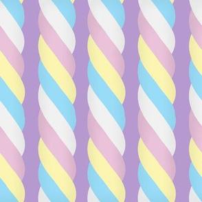 Marshmallow Twist - Vertical, purple