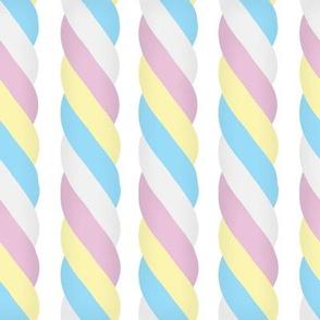 Marshmallow Twist - Vertical, white