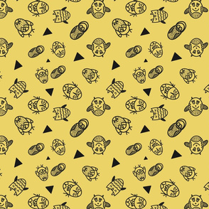 Owl character pattern