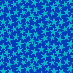 starfish stars in blue turquoise