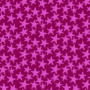 starfish stars in fuchsia