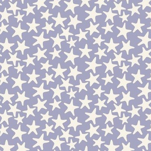 starfish stars soft grey