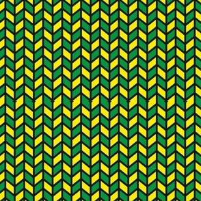 green and yellow chevrons