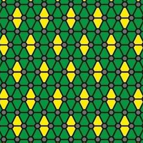 green and yellow diamonds