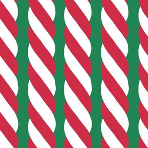 Candy Cane twist - Vertical, green
