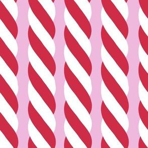 Candy Cane twist - vertical, pink