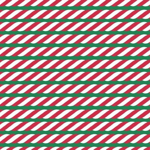 Candy Cane twist - green, small scale