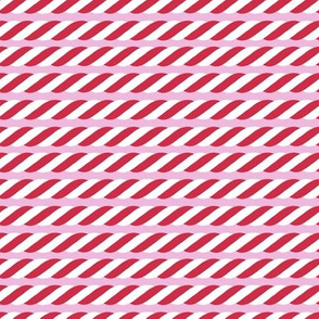 Candy Cane twist - pink, small scale