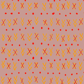 Tribal Arrows - Rose