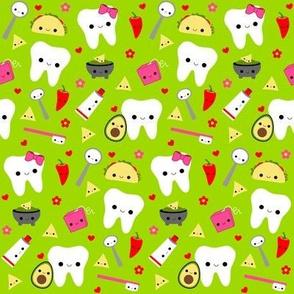 Happy Taco Teeth - Green