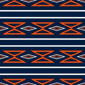 Edmonton Oilers Hockey Geometric Stripes Team Colors Blue Orange