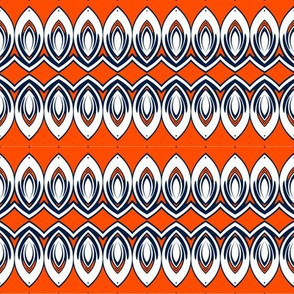 Edmonton Oilers Hockey Geometric Petals Team Colors Blue Orange