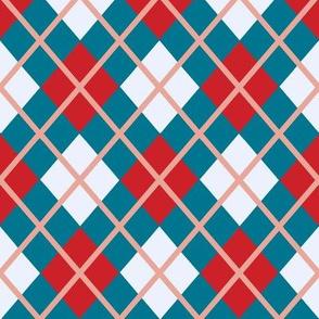 Blue & Red Argyle