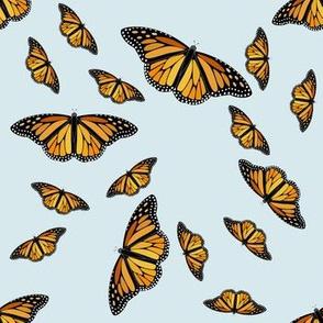 Magnificent Monarchs on Blue