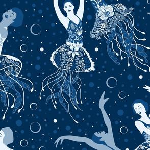 Jellyrinas- Floral Jellyfish Ballerinas- Large Scale