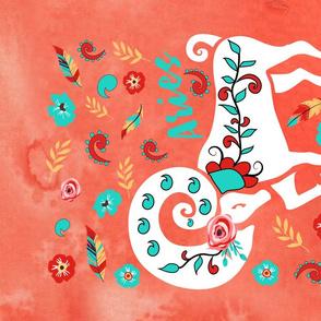 Boho Zodiac Sign- Aries Astrology Tea Towel