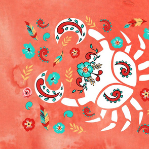 Boho Zodiac Sign- Cancer Astrology Tea Towel