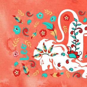 Boho Zodiac Sign- Leo Astrology Tea Towel
