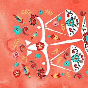 Boho Zodiac Sign- Libra Astrology Tea Towel