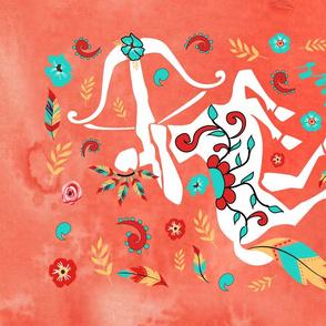 Boho Zodiac Sign- Sagittarius Astrology Tea Towel