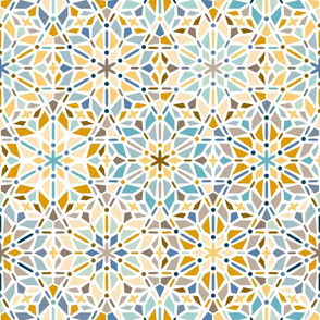 kaleidoscope in blue and yellow