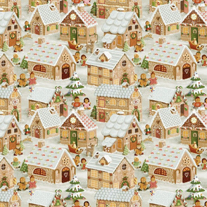 Gingerbread Village (vintage)50