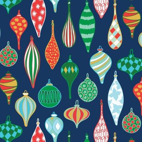 Vintage baubles-navy green