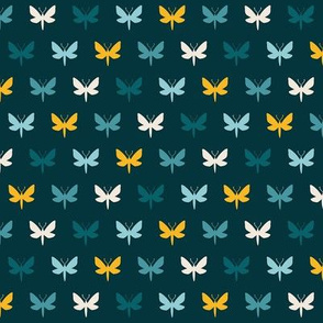 Teal Moth Silhouette | SMALL