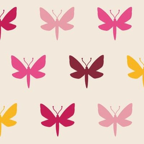 Vanilla & Pink Moth Silhouette | LARGE