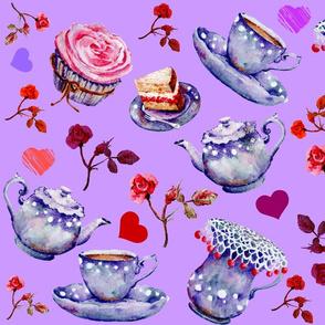 Pastel Purple Tea Time
