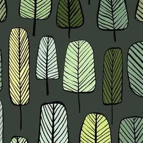 trees Dark green
