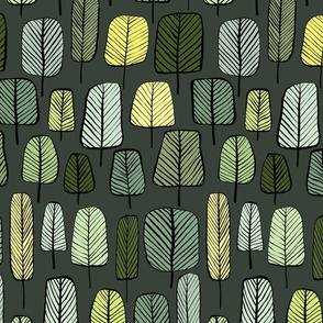 trees dark green small