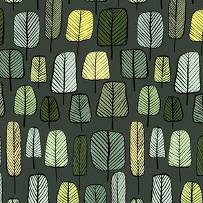 trees dark green small