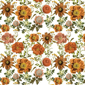 Wildflowers - Pink Mustard Burnt Orange