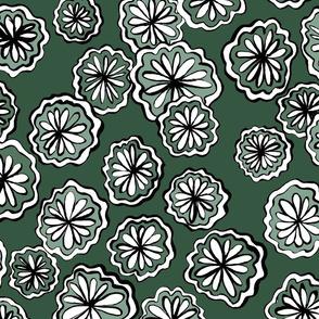 flower green all over
