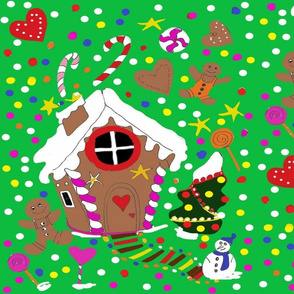 MY DREAM GINGERBREAD CRISTMAS HOME green