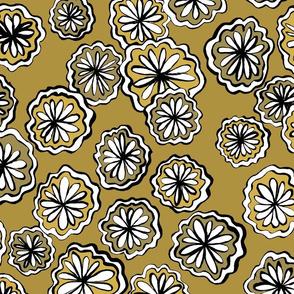 flower ochre darker