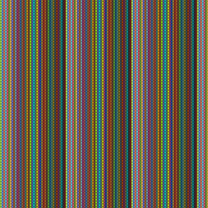 Rainbow Rag Rug Knit Stripes - Small Scale - Y