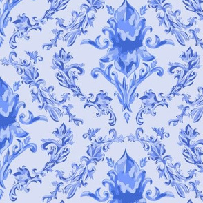 Traditional Blue Damask