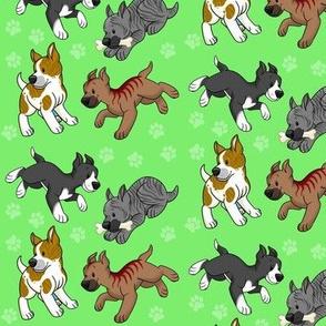 Mabari Pups - Green