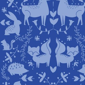 Forest Animals- Royal Blue Coloration