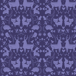 Forest Animals- Purple Coloration