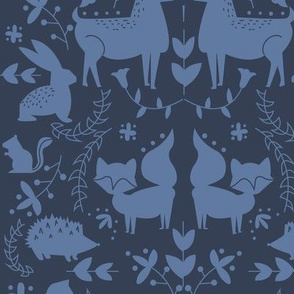 Forest Animals- Blue Coloration
