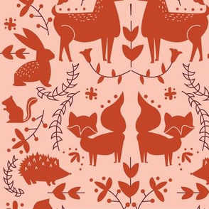 Forest Animals- Orange Coloration