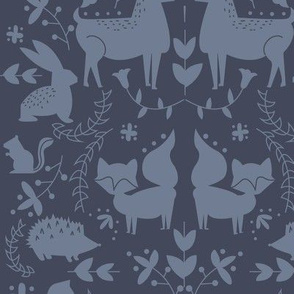 Forest animals- Navy Coloration